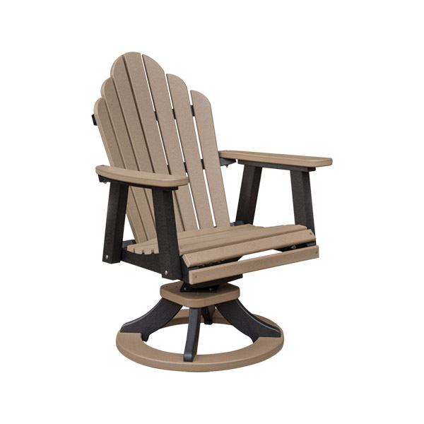 poly swivel rocker dining chair