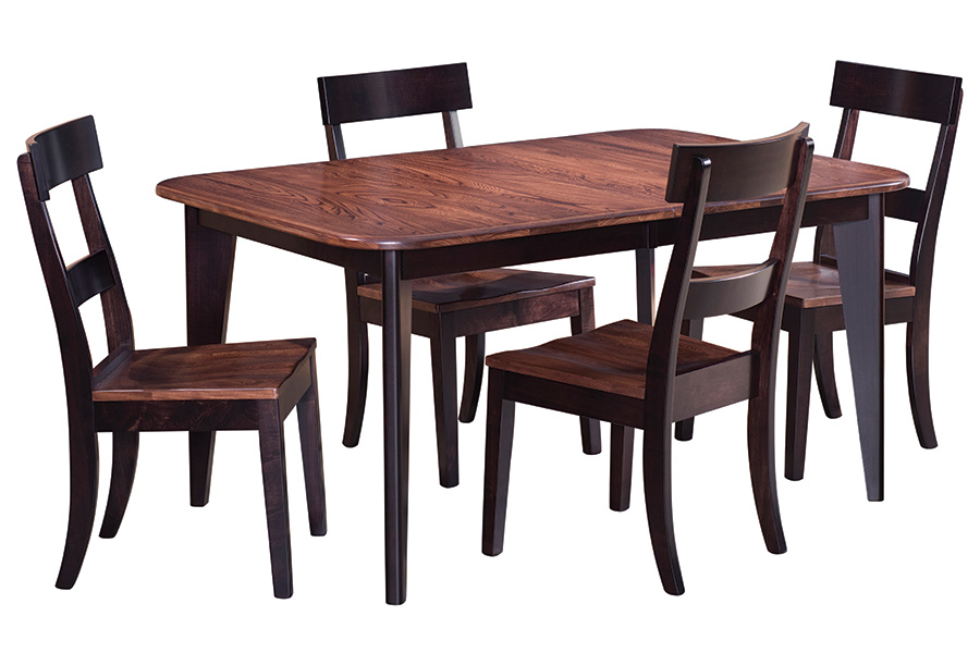 express ship dining set featuring elm and brown maple