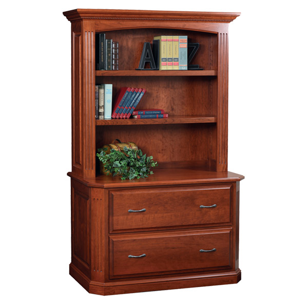 lateral file and bookshelf