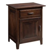 one drawer one door nightstand