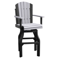 poly adirondack swivel bar chair