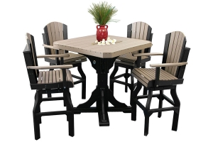 poly adirondack bar set