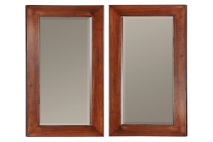 double hanging mirrors