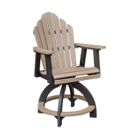 poly swivel counter chair