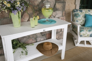 poly buffet table