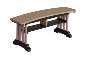 poly curved bench