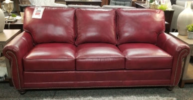 Smith Brothers Leather Sofa
