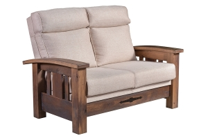 barnwood loveseat