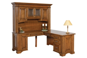 corner desk and hutch