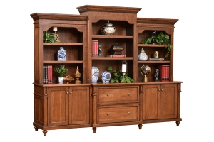 ninetyeight inch base and three piece hutch