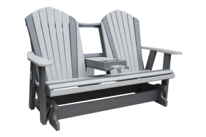 poly five foot adirondack settee glider