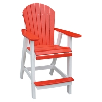 poly  bar height chair