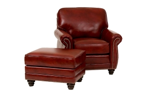 Upholstered Chair And Ottoman
