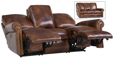 upholstered reclining sofa