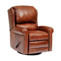 upholstered swivel reclining chair