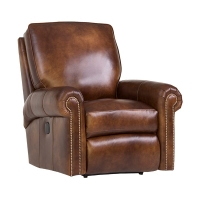 upholstered motorized recliner