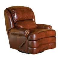 upholstered swivel glider reclining chair