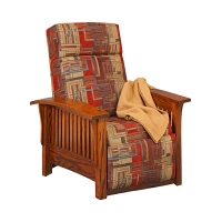 upholstered mission wallhugger recliner