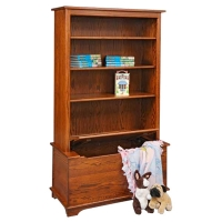 childs bookcase with toy box