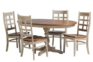 single pedestal express ship dining table and chairs