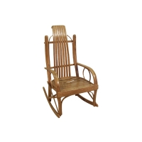 childs bent oak rocker