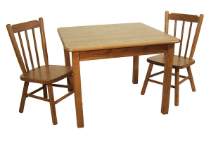 childs table with chairs