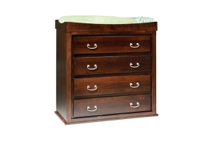 convertible four drawer changing table