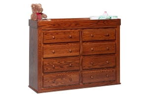 convertible 8-drawer changing table