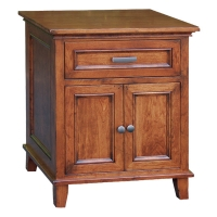 one drawer, two door nightstand