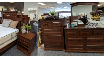 Beautiful 4 poster solid cherry bedroom set