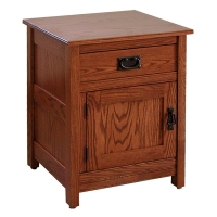 mission one drawer one door nightstand