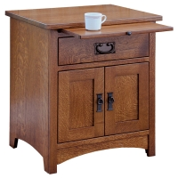 mission one drawer two door nightstand
