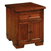one drawer two door nightstand