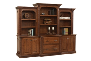 base and three piece hutch