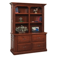 double lateral file and bookshelf