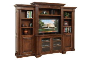 fortyeight inch entertainment center and bookcases