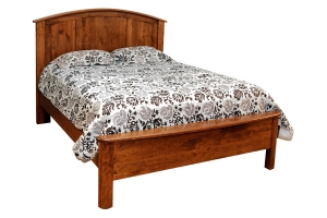bed with panel headboard