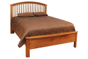 bed with slat headboard