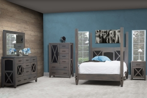 bedroom collection with weatherwood finish