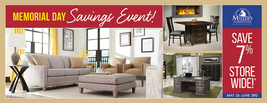 millers Memorial Day savings event