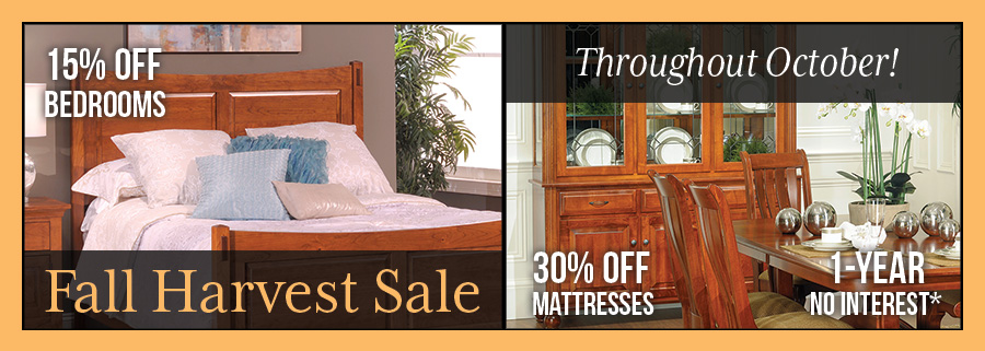 harvest sale at millers furniture