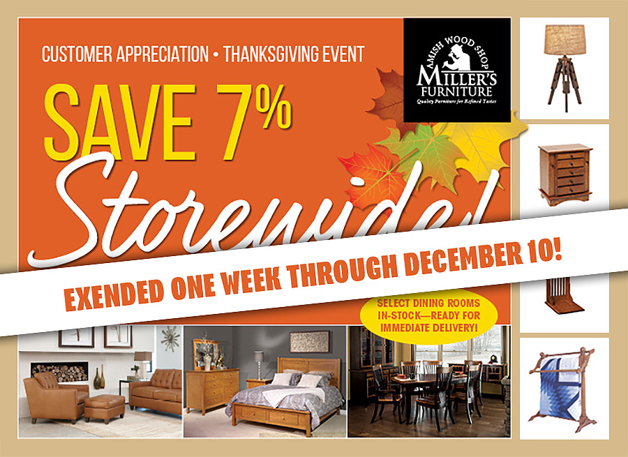 thanksgiving savings event extended through December 10